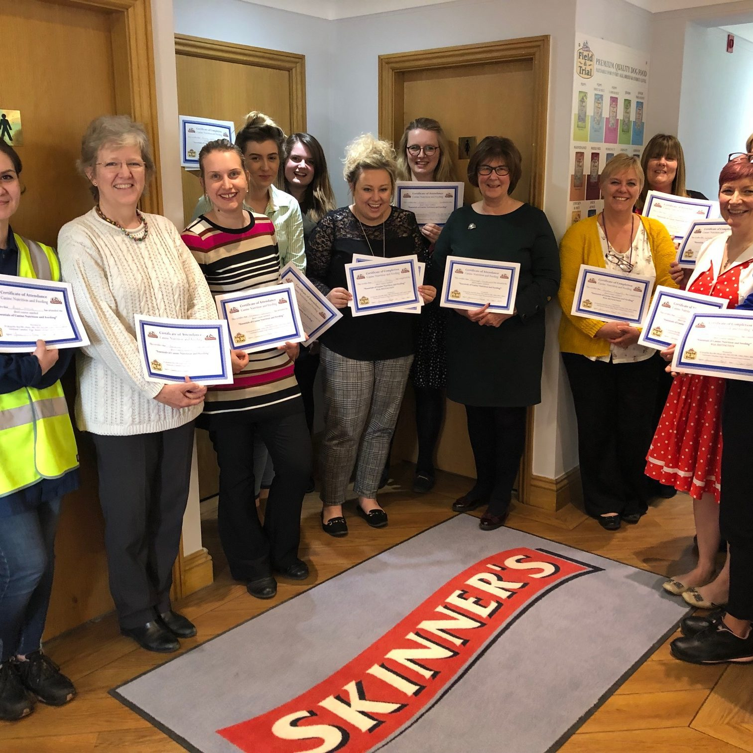 Skinner's team pass canine nutrition training