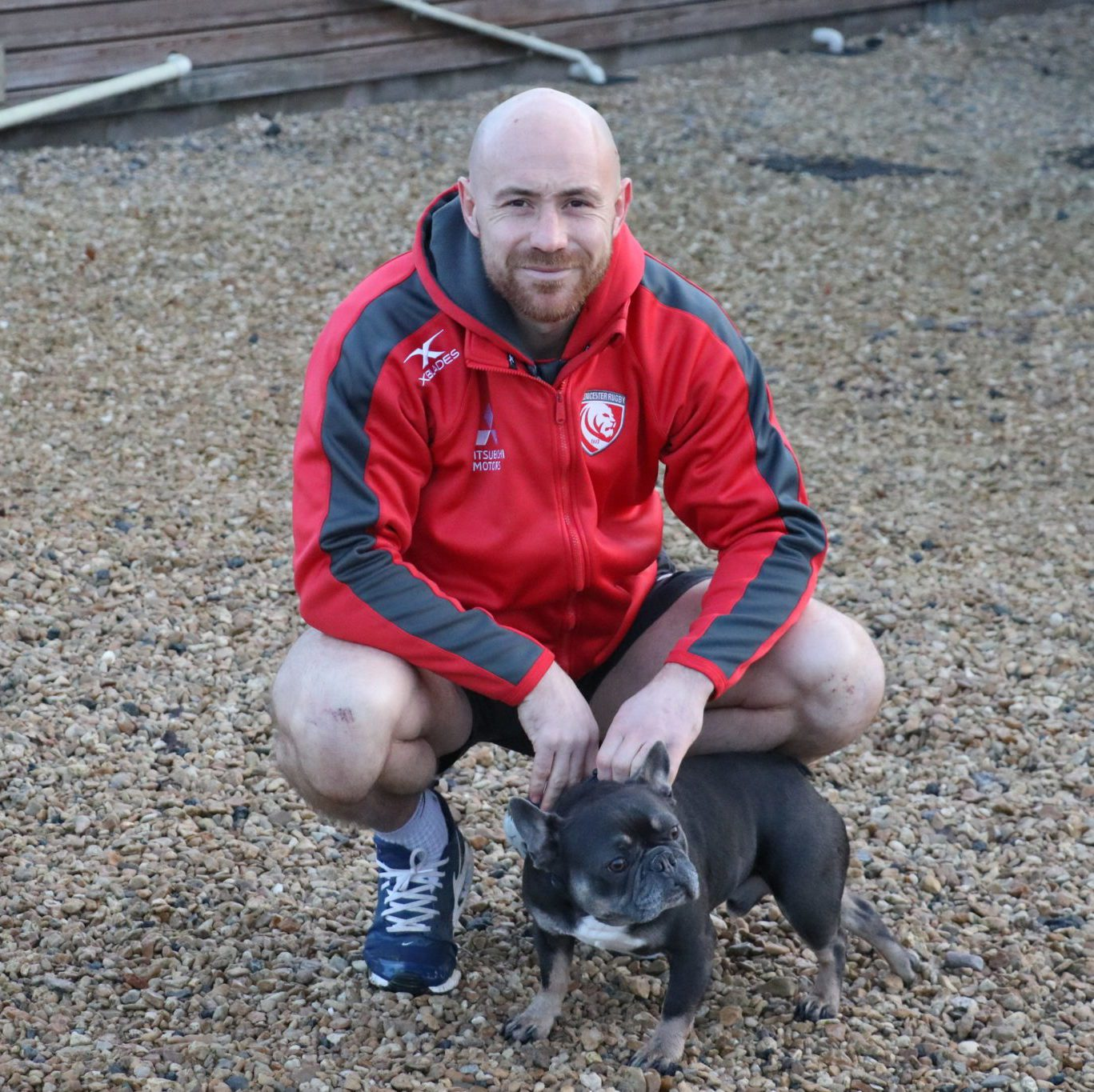 Willi Heinz and his dog