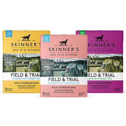Skinner's Field & Trial new wet dog food for working dogs