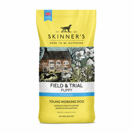 Chicken dry puppy food for future working dogs